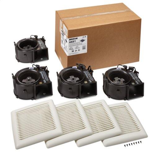 FLEX Series Bathroom Ventilation Fan Finish Pack 80 CFM 0.8 Sones, ENERGY STAR certified