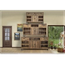 """80"""" TV Stand w/2 Drawers and 2 Doors w/4 Shelves"""