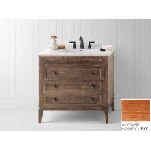 "Laurel 36"" Bathroom Vanity Cabinet Base in Vintage Honey"