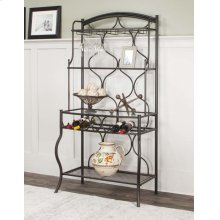 Holly Bronze Metal Bakers Rack