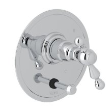 Polished Chrome Arcana Pressure Balance Trim With Diverter with Arcana Series Only Ornate Metal Lever
