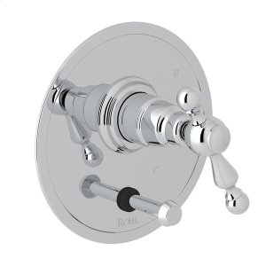 Polished Chrome Arcana Pressure Balance Trim With Diverter with Arcana Series Only Ornate Metal Lever Product Image