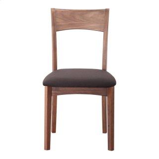 Florence Dining Chair Walnut Black Seat-m2