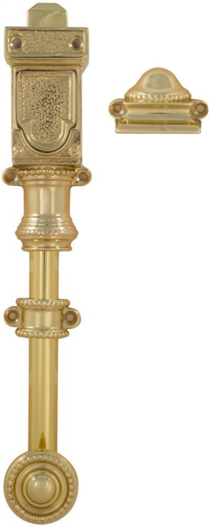 Ornate Slide Bolt in (US3 Polished Brass, Lacquered) Product Image