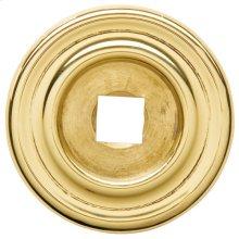 Polished Brass Knob Back Plate