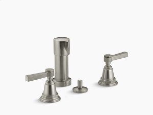 Vibrant Brushed Nickel Pure Vertical Spray Bidet Faucet With Lever Handles Product Image