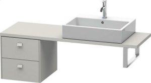 Brioso Low Cabinet For Console Compact, Concrete Gray Matte (decor) Product Image