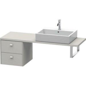 Brioso Low Cabinet For Console Compact, Concrete Gray Matte (decor)
