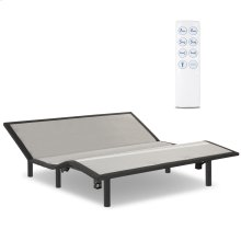 Raven Low-Profile Adjustable Bed Base with Simultaneous Movement and Wireless Flashlight Remote, Charcoal Gray Finish, Folding King