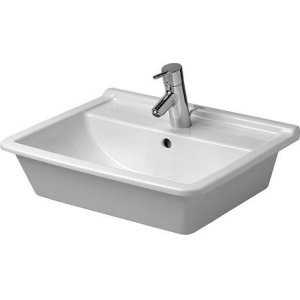 Starck 3 Vanity Basin 1 Faucet Hole Punched