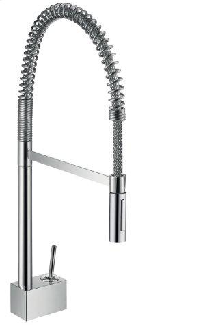 Stainless Steel Finish Single lever kitchen mixer 240 Semi-Pro Product Image