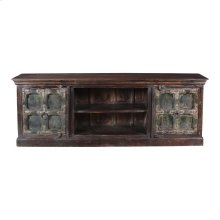 Antique Reclaimed Wood Entertainment Cabinet 03c
