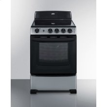 "24"" Wide Smooth-top Electric Range In Stainless Steel, With Lower Storage Drawer and Oven Window"
