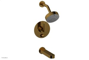 ROND Pressure Balance Tub and Shower Set - Lever Handle 183-27 - French Brass Product Image