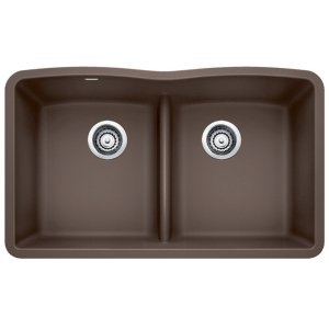 Blanco Diamond Equal Double Bowl With Low-divide - Café Brown