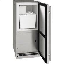 """Outdoor Collection 15"""" Crescent Ice Maker With Stainless Solid Finish and Field Reversible Door Swing (115 Volts / 60 Hz)"""
