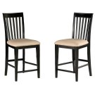 Mission Pub Chairs Set of 2 with Oatmeal Cushion in Espresso Product Image