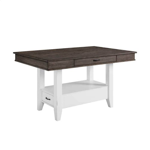 Belgium Farmhouse Counter Table w/Drawers