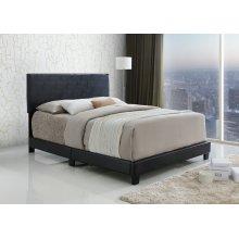 Jessica Espresso Upholstered Queen Bed