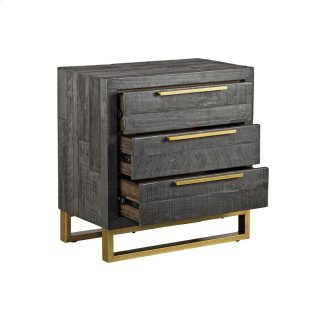 Vogue 3Dwr Nightstand Black