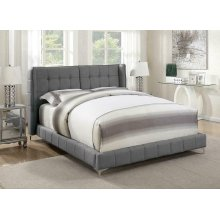 Goleta Grey Upholstered California King Bed