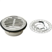 "Elkay Drain Fitting 5-1/2"" Stainless Steel Dome / Flat Grid Strainer"