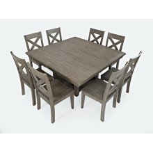 Outer Banks Hi/low Square Storage Dining Table With Four Chairs - Driftwood