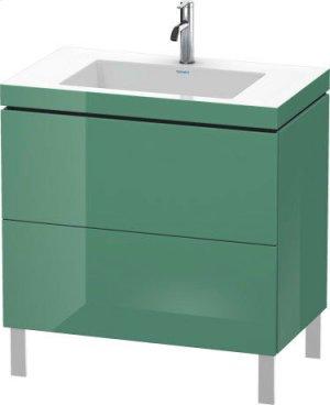 Furniture Washbasin C-bonded With Vanity Floorstanding, Concrete Gray Matte (decor) Product Image