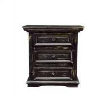 Santa Fe Black 3-Drawer Nightstand