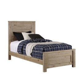 Twin Complete Bed - Natural Finish