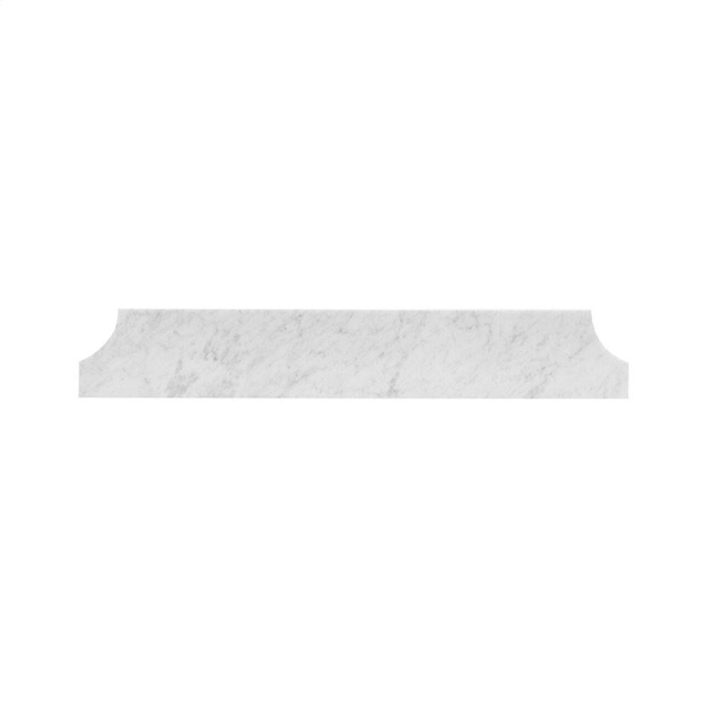 """Carrara White Marble Cove Style Backsplash 36.5"""" Wide"""