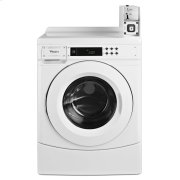"27"" Commercial High-Efficiency Energy Star-Qualified Front-Load Washer Featuring Factory-Installed Coin Drop with Coin Box White Product Image"