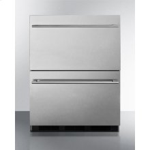 Two-drawer Commercial Outdoor All-refrigerator In ADA Compliant Height, Fully Stainless Steel With Automatic Defrost