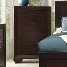Fenbrook Dark Cocoa Five-drawer Chest