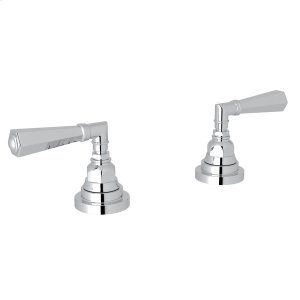 """Polished Chrome San Giovanni Set Of Hot & Cold 1/2"""" Sidevalves with Metal Lever Product Image"""