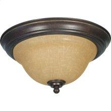 2-Light Medium Flush Mount Ceiling Light in Sonoma Bronze with Champagne Glass