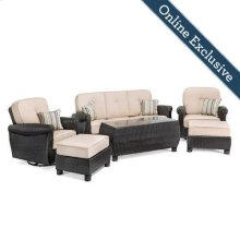 Breckenridge 6 Piece Patio Furniture Set, Natural Tan