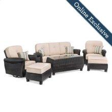 Breckenridge 6 Piece Patio Furniture Set, Natural Tan