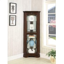 Traditional Golden Brown Curio Cabinet