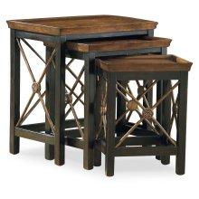 Living Room Nest of Three Tables w/Medallion Motif
