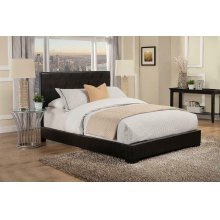 Conner Casual Black Upholstered California King Bed