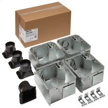 FLEX Series Humidity Sensing Bathroom Ventilation Fan Housing Pack, no Flange