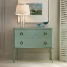 Two Drawer Concave Side Chest