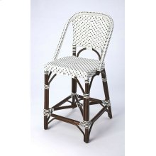 Function, form and fun all come together on this beautiful PU Rattan weave counter chair. The simplistic design of this counter chair is enhanced by a 'POP of contemporary design. The functional design of the counter chair with its intricate patterned we