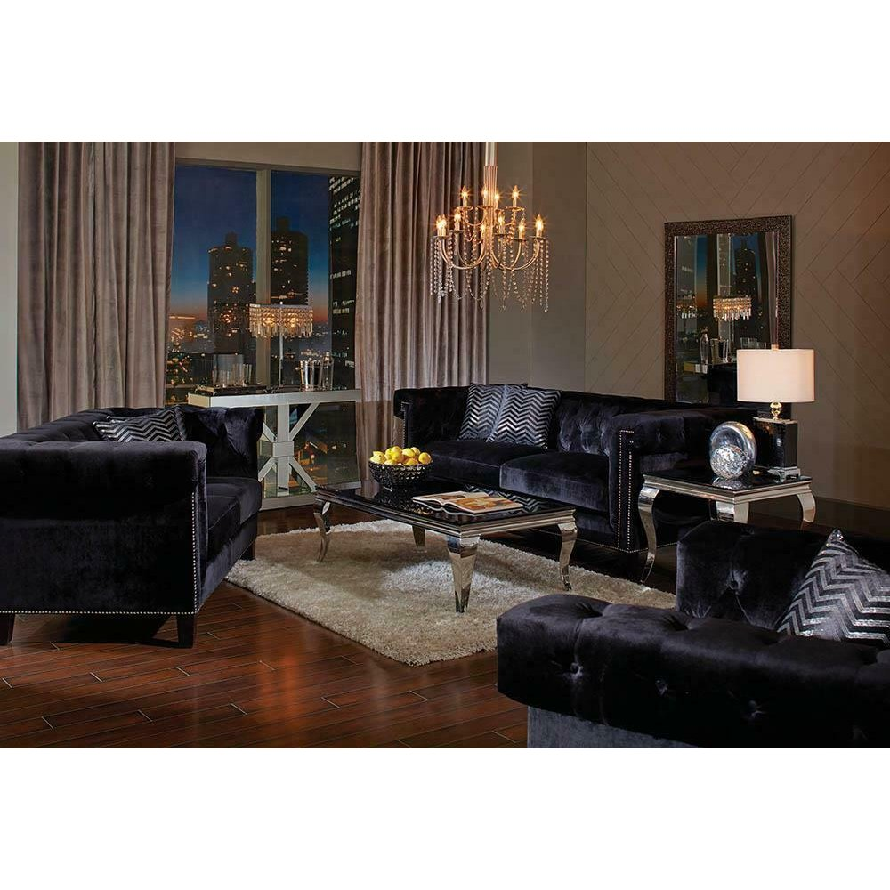 Reventlow Formal Black Loveseat