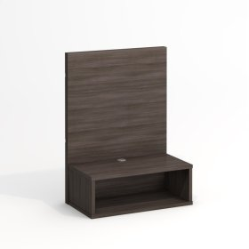 "24"" Wide Queen Floating Nightstand With Backer"