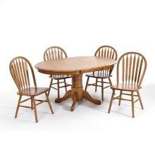Classic Oak Chestnut Solid Pedestal Table