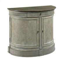 Savona Demilune Bachelor Chest Versaille Finish W/Elm Top