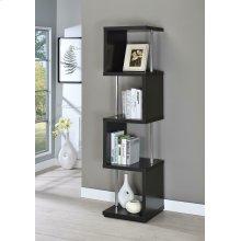 Modern Black Four-tier Bookcase