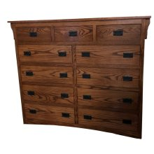 O-M445 Eleven Drawer Highboy Dresser